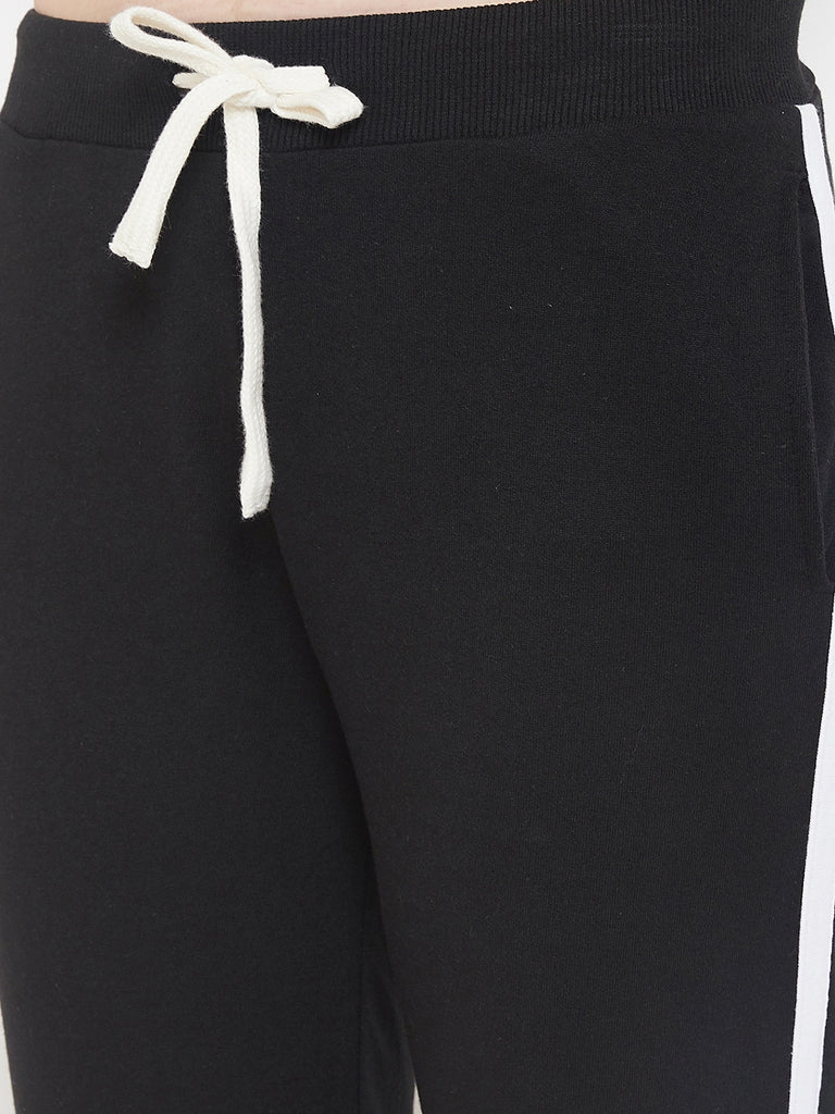 Austin Wood Women's White Striped Half Sleeves Track Suit