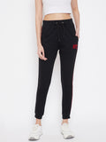 Austin Wood Women's Embroidered Slim Fit Track Pant