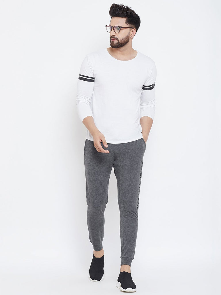 Charcoal Printed Men's Trackpant