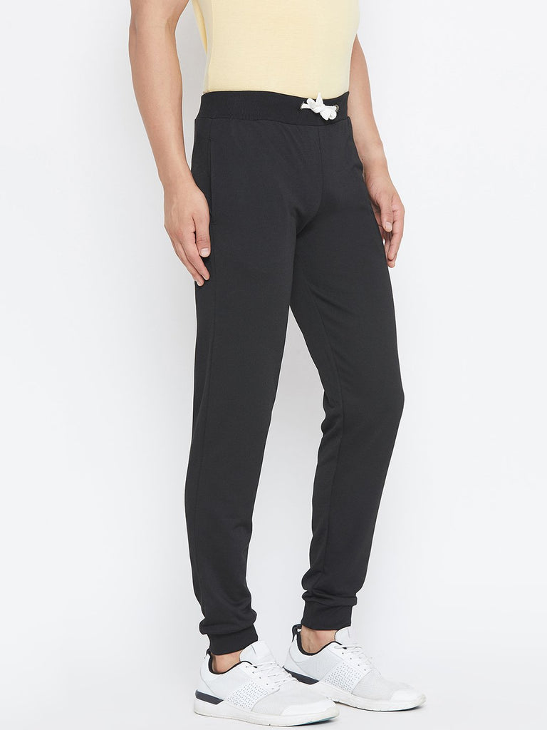 Black printed Men's Trackpant