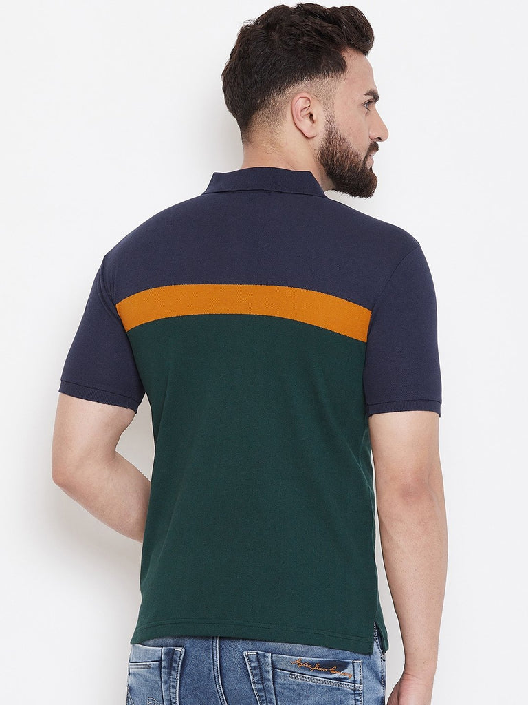 Green Stripers Polo T-shirt
