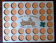 Load image into Gallery viewer, Custom Poker Chip Display Insert 11X14 wood insert Fits 36 Harley chips Life is a Journey With Frame Option