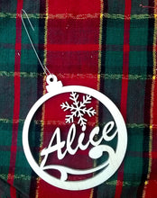 Load image into Gallery viewer, Custom Tree Ornament Personalized Your Name 4x3.5 Christmas Tree Ornament Laser-Engraved Decoration Snowflake Laser Name