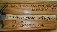 Load image into Gallery viewer, Personalized Hammer Display Laser-engraved Handle Father of the Bride Gift Father's Day Gift Wedding Gift Customized hammer wall display