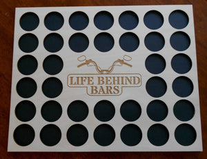 Custom Poker Chip Frame Display Insert Life Behind Bars Carved By Heart FREE SHIPPING Fits 36 Harley-Davidson or Casino chips 11x14 chip holder