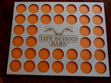 Load image into Gallery viewer, Custom Poker Chip Frame Display Insert Life Behind Bars Carved By Heart FREE SHIPPING Fits 36 Harley-Davidson or Casino chips 11x14 chip holder