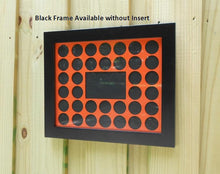 Load image into Gallery viewer, Poker Chip Display Frame Handcrafted pine frame collector's black frame without chip insert FRAME ONLY