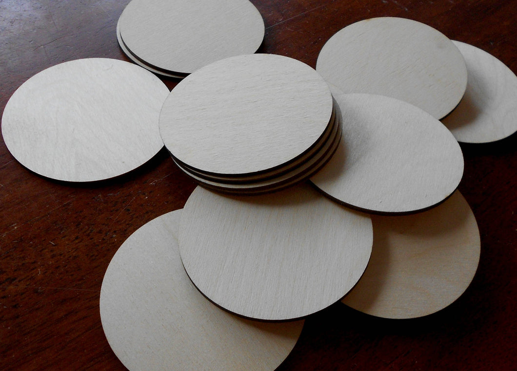 Wood discs for crafting 4 inch laser-cut birch rounds for crafting 50 or 100 unfinished discs Woodcrafting supplies DYI Craft Projects