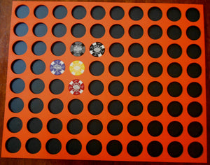 Custom Casino Poker Chip Display Frame Insert for 80 chips 16X20 wood chip insert Fits Harley-Davidson and Casino chips