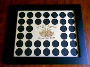Poker Chip Display Frame Handcrafted pine frame collector's black frame without chip insert FRAME ONLY