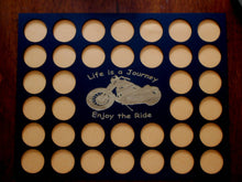 Load image into Gallery viewer, Poker Chip Display Frame With Insert for 36 Casino or Harley-Davidson chips NOT READY till after Christmas Life is a Journey