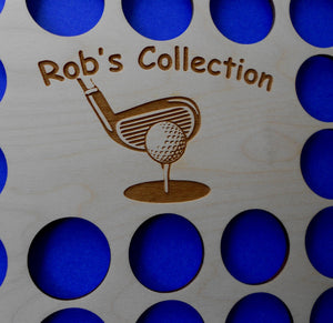 Personalized Engraved Golf Marker Chip Display Frame Insert For Right or Left-handed Golfers Holds 36 chips 11X14 Customized Golf Gift