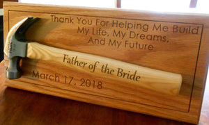 Personalized Hammer Display Father of the Bride Gift Laser-engraved Handle Father's Day Gift Wedding Gift Customized hammer wall display
