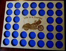 Load image into Gallery viewer, Custom Poker Chip Frame Display Insert Engraved motorcycle Fits 36 Harley-Davidson or Casino chips Harley riders gift #GR