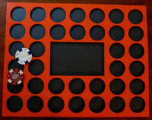 Load image into Gallery viewer, Custom Casino Poker Chip Display Frame Insert for 36 chips 11x14 chip holder Fits Harley-Davidson and Casino chips