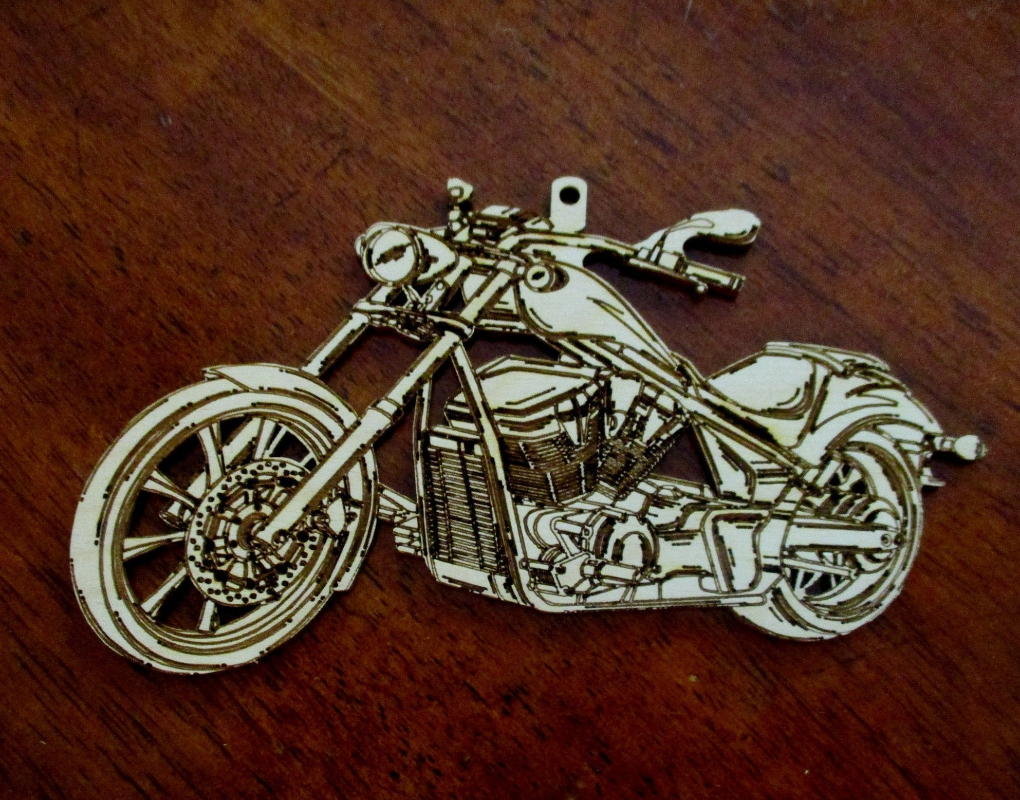 Custom Motorcycle Ornaments Christmas Tree Ornaments Laser Engraved De Carved By Heart