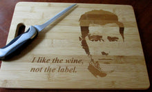 Load image into Gallery viewer, Custom Cutting Board Schitt's Creek Bamboo cheese board WINE, not the label Wedding Gift Large/small engraved board David Rose X'mas Gift