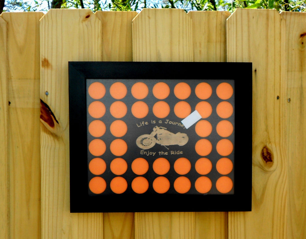 Poker Chip Display Frame With Insert for 36 Casino or Harley-Davidson chips NOT READY till after Christmas Life is a Journey