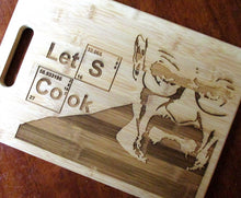 Load image into Gallery viewer, Custom Breaking Bad Bamboo Cutting Board Let's Cook Engraved Breaking Bad board Small or large bamboo cutting board Cheese board WW