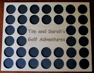 Personalized Engraved Golf Marker Chip Display Frame Insert For 36 chips 11 X 14 chip board Customized Golf Gift