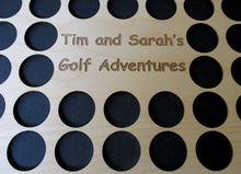 Load image into Gallery viewer, Personalized Engraved Golf Marker Chip Display Frame Insert For 36 chips 11 X 14 chip board Customized Golf Gift