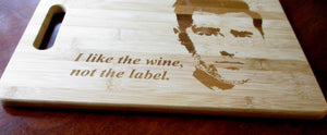 Custom Cutting Board Schitt's Creek Bamboo cheese board WINE, not the label Wedding Gift Large/small engraved board David Rose X'mas Gift