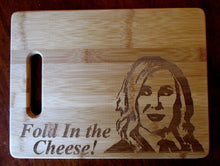 Load image into Gallery viewer, Custom Cutting Board Schitt's Creek Bamboo cheese board gift for couples Wedding Gift Christmas Small/Large engraved board Moira Rose