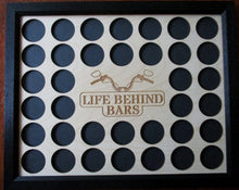 Load image into Gallery viewer, Custom Poker Chip Frame Display Insert Life Behind Bars Fits 36 Harley-Davidson or Casino chips 11x14 chip holder Frame or no Frame