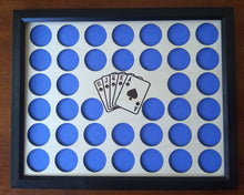 Load image into Gallery viewer, Custom Poker Chip Display Insert and Frame for 38 chips Laser-engraved insert Royal Flush Cards Include Frame Option-With or Without