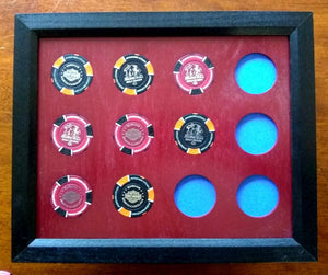 Custom Poker Chip Frame Fits 8x10 inserts Simple Black frame for chip insert Frame only