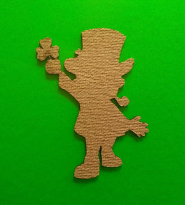 "Leprechaun shapes craft supplies Laser-cut 5"" Masonite cut characters St. Patrick's Day Decorations Irish festivities Party decorations"