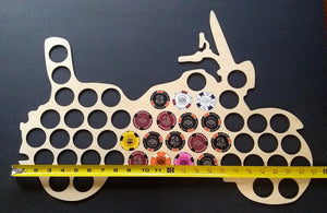 Custom 50 Poker Chip Motorcycle Display Frame for 50 Harley-Davidson chips Father's Day Gift SHIPS FREE
