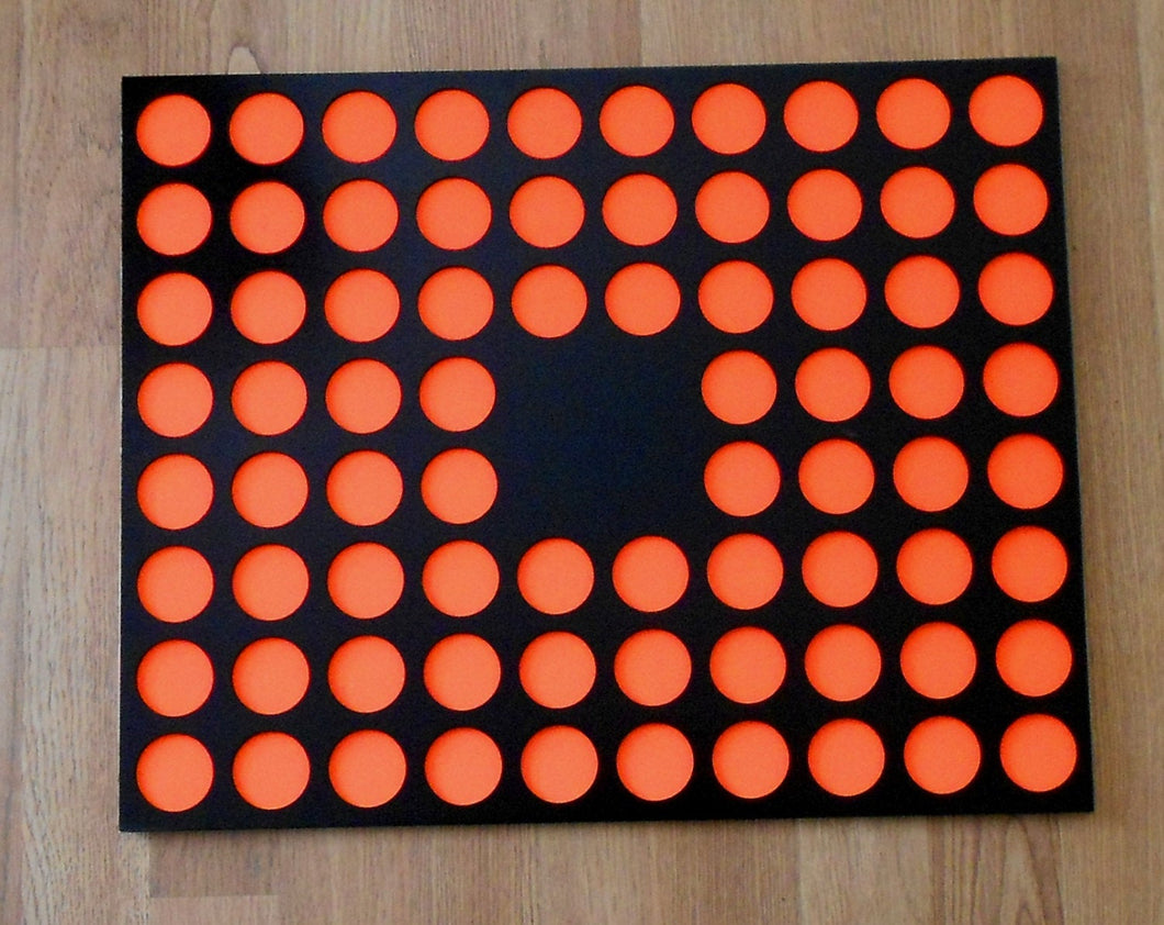 Custom Casino Poker Chip Display Frame Insert for 76 chips 16x20 w/out cut-out middle Fits Harley and Casino chips