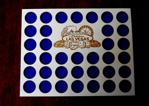 Casino Poker Chip Display Frame Insert  and Frame Option Poker Player Gift Laser-engraved Welcome to Las Vegas 36 Casino chips holder
