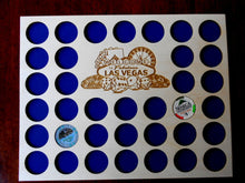 Load image into Gallery viewer, Casino Poker Chip Display Frame Insert  and Frame Option Poker Player Gift Laser-engraved Welcome to Las Vegas 36 Casino chips holder