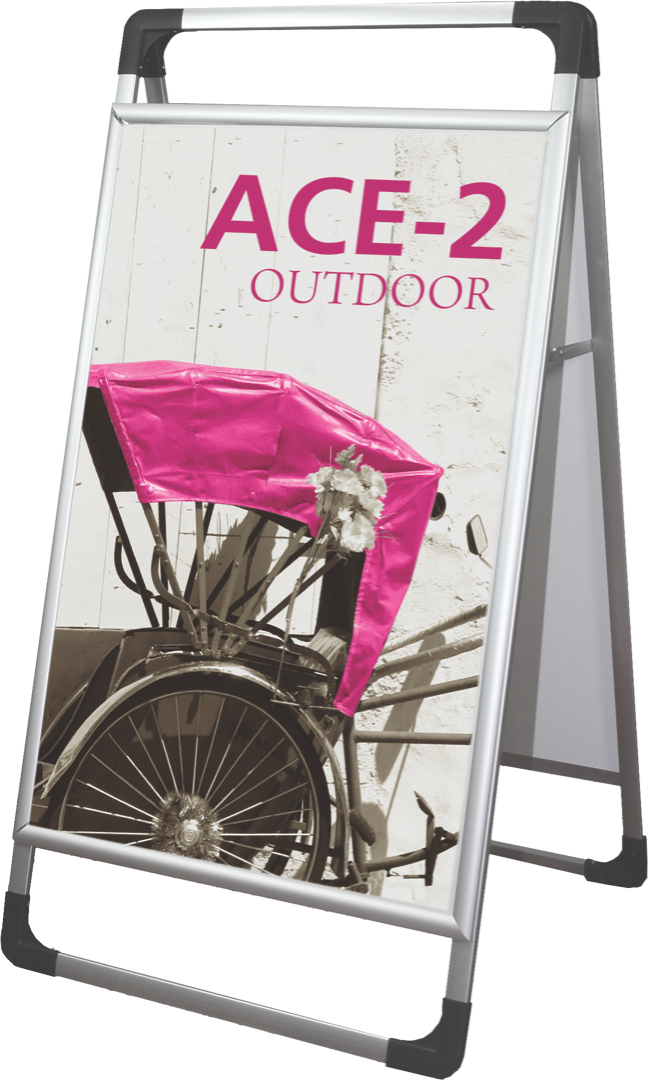 Outdoor A-frame sidewalk sign with Graphic