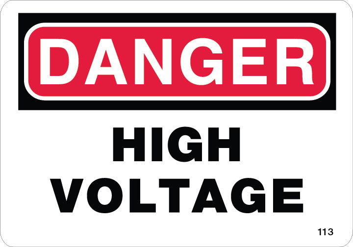High Voltage- $6.40 Per Decal