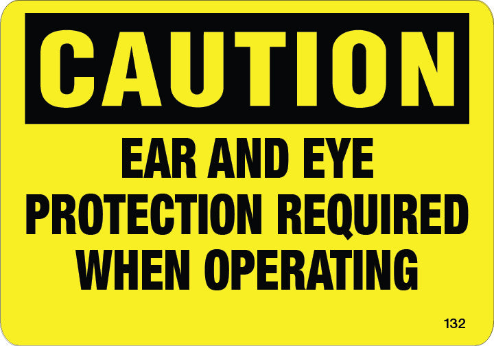 Eye and ear protection-$6.40 Per Decal