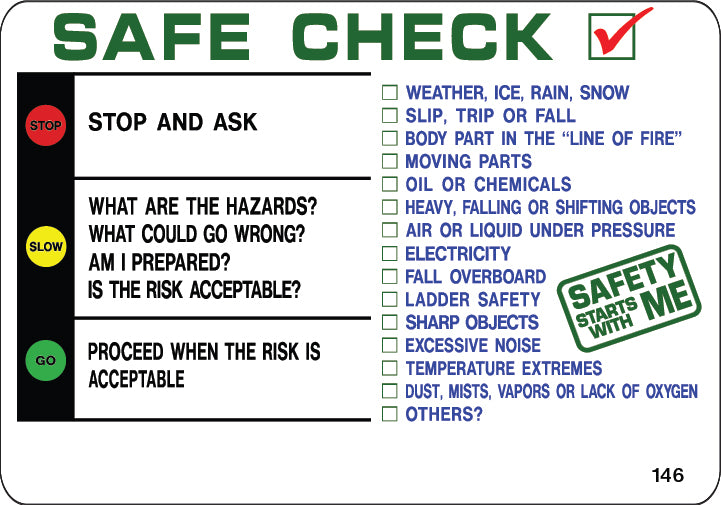 Safe Check- $6.40 Per Decal