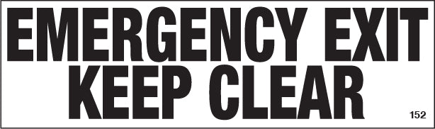 Emergency Exit- $3.40 Per Decal