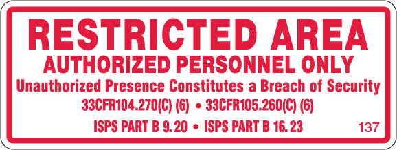 Restricted Area-$3.40 Per Decal