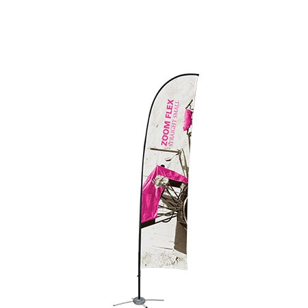 Zoom Flex Banners with hardware and cross base