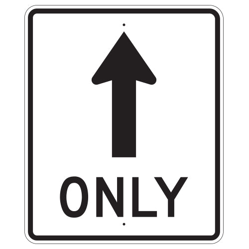 Straight Through Only Sign