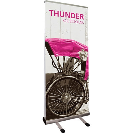Outdoor Double-Sided retractable Banner and stand