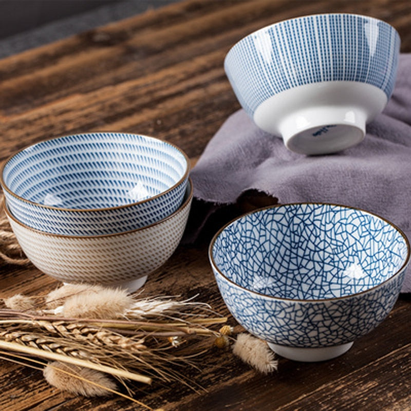 Coffret 4 bols traditionnels japonais Collection « Oshiro »