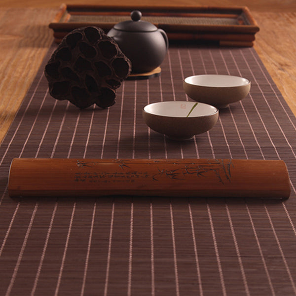 Chemin de table japonais en bambou naturel