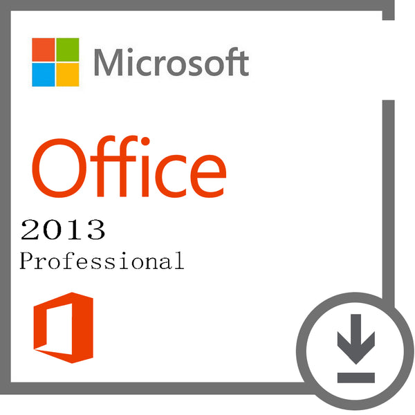 Microsoft Office 2013 Professional Key Lifetime 32/64 Bit with Download Link not MAC (Not CD)