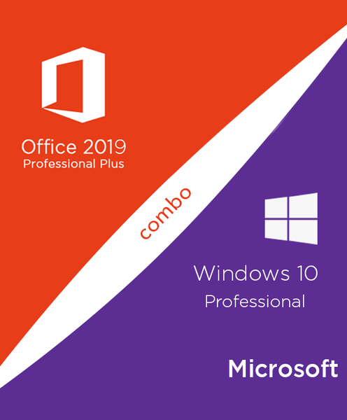 Windows 10 Pro KEY + Lifetime Microsoft Office 2019 Professional Plus Digital License All Language GLOBAL KEY with Download Link