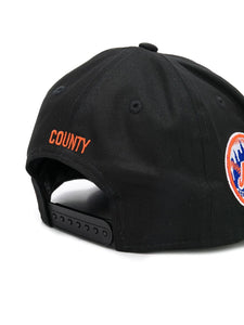Marcelo Burlon Orange Mets Cap Black