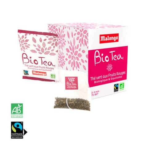 Malongo Vert Fruits Rouges Tea Sachet